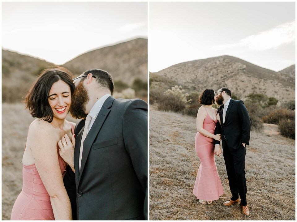 photos of a romantic couple in mission trails