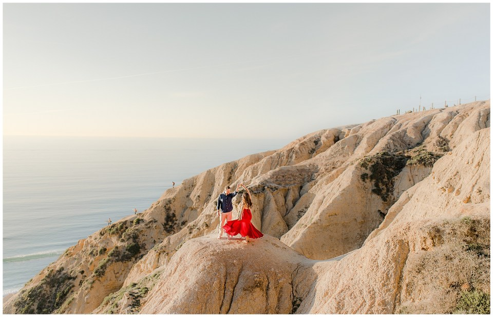torrey pines cliffs engagement photography session