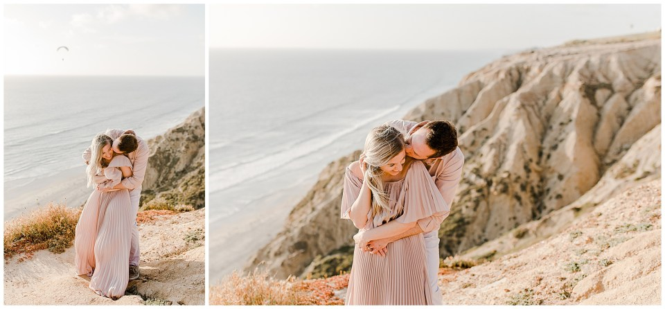 sunset engagement photos. romantic pictures at torrey pines gliderport - couples session by bree and stephen photography