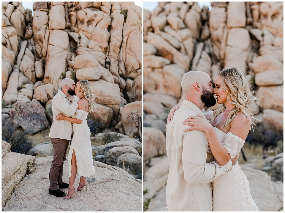 Couple Kissing In Joshua Tree National Park
