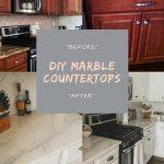 Diy Marble Countertops Cover Old Granite Or Laminate Counters Breeatlast Com