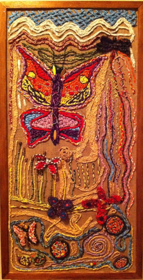 Warrambool Dreaming Weaving Panel, Lightning Ridge
