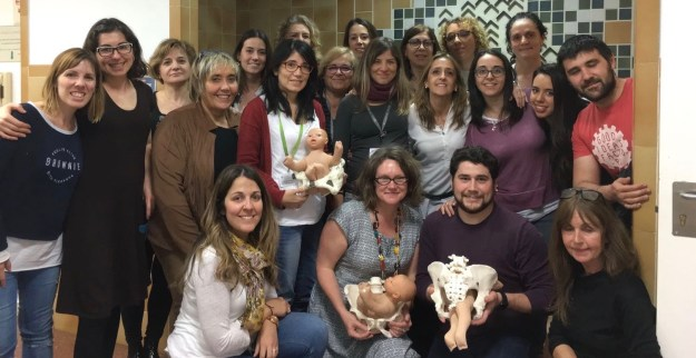 Group of people posing at a breech birth network study day