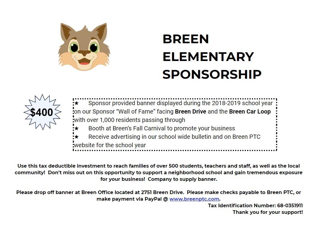 Sponsorship Flyer