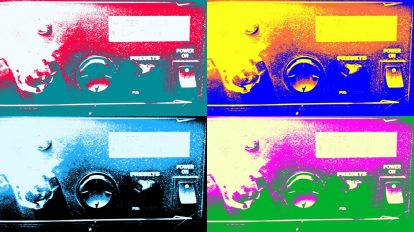 Pop Art of Spider Line 6 Amplifier knobs