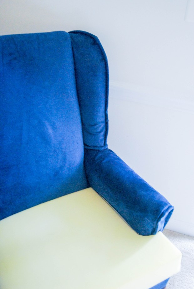 DIY Friday- Blue Velvet Chair | Breezing Through  7