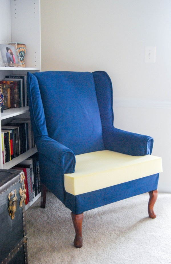 DIY Friday- Blue Velvet Chair | Breezing Through  8