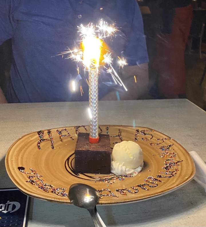 Salt and Pepper Aruba Anniversary Cake