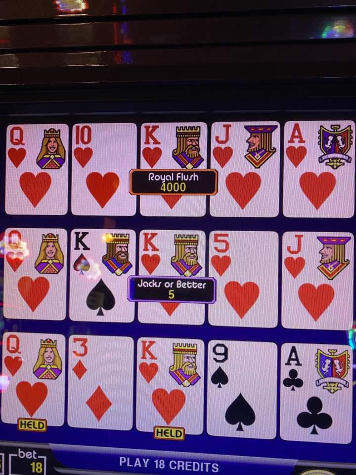 Royal Flush at Aruba Hilton Casino