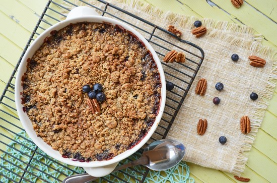 Plum and Blueberry Maple Fruit Crisp
