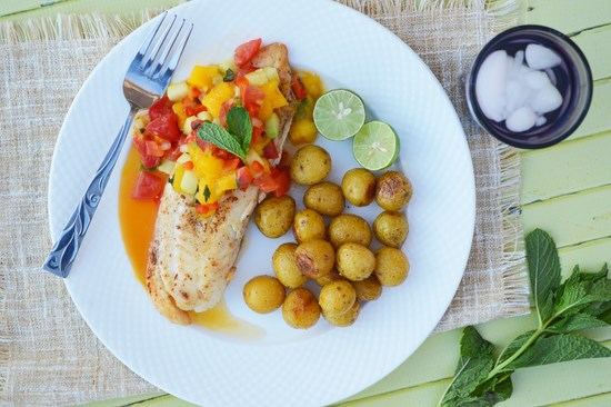 Tilapia with Mango Chutney