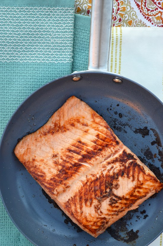 Maple Glazed Pan Seared Salmon