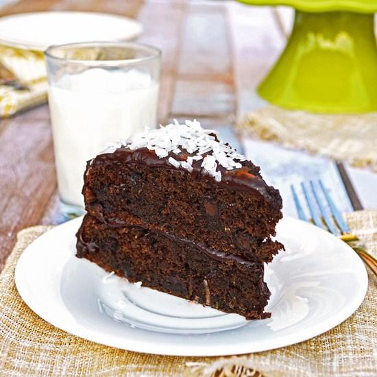 Chocolate Coconut Zucchini Cake