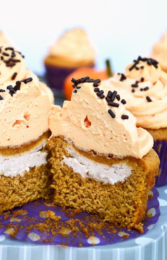 Cream Cheese Pumpkin Cupcake