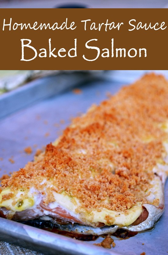 Tartar Sauce Baked Salmon