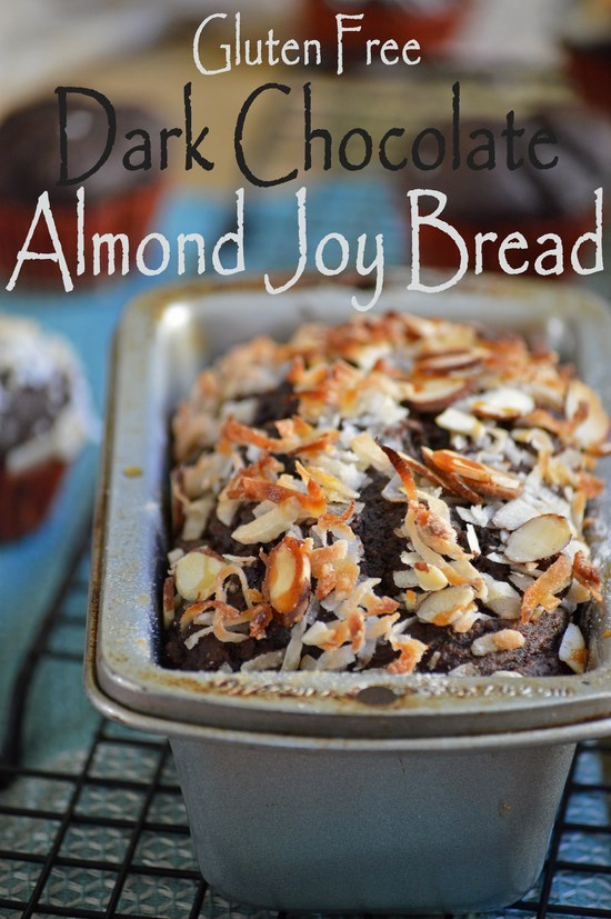 Gluten free, dairy free, sugar free and delicious! A recipe for Chocolate Almond Joy Bread made with cocoa, almond butter, and coconut oil. No guilt here!