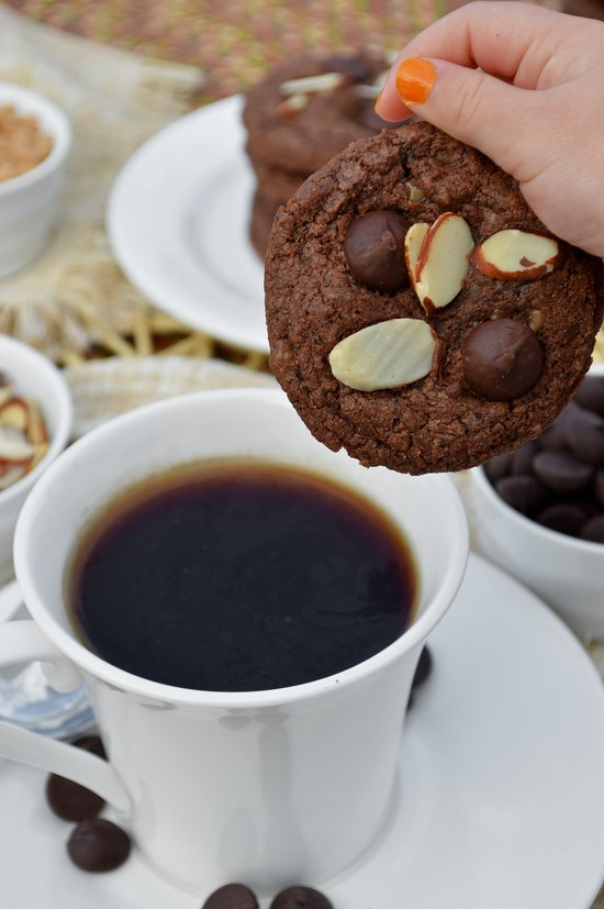 gluten free cookies chocolate coffee toffee