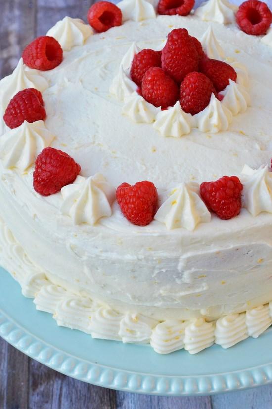 gluten free raspberry lemon cake