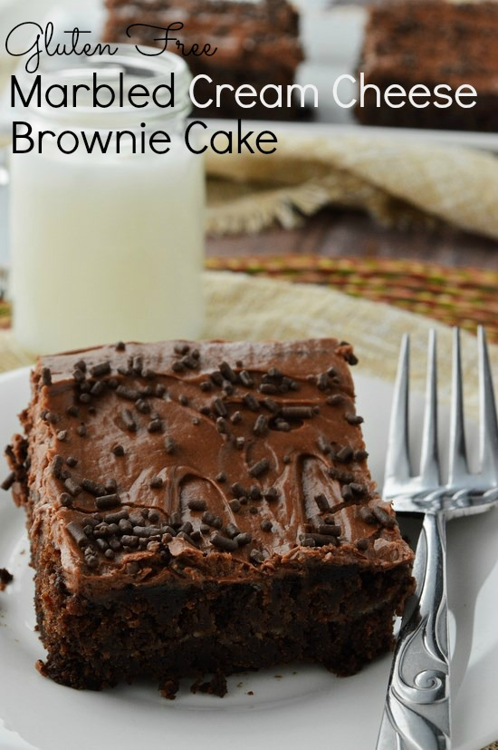 Gluten Free Marbled Cream Cheese Brownie Cake Breezy Bakes