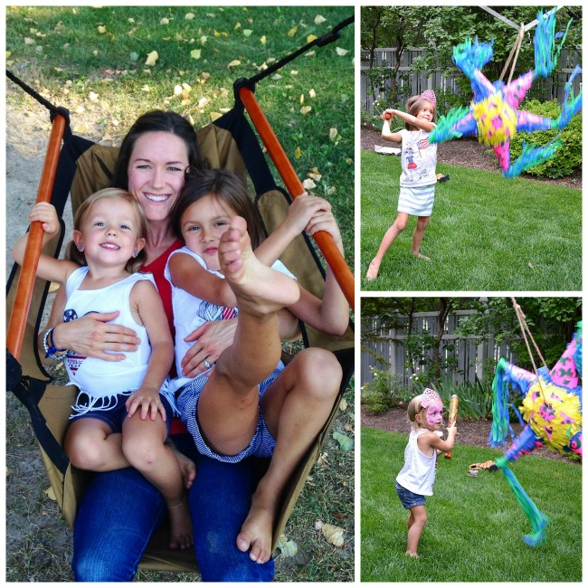 Swinging and pinatas