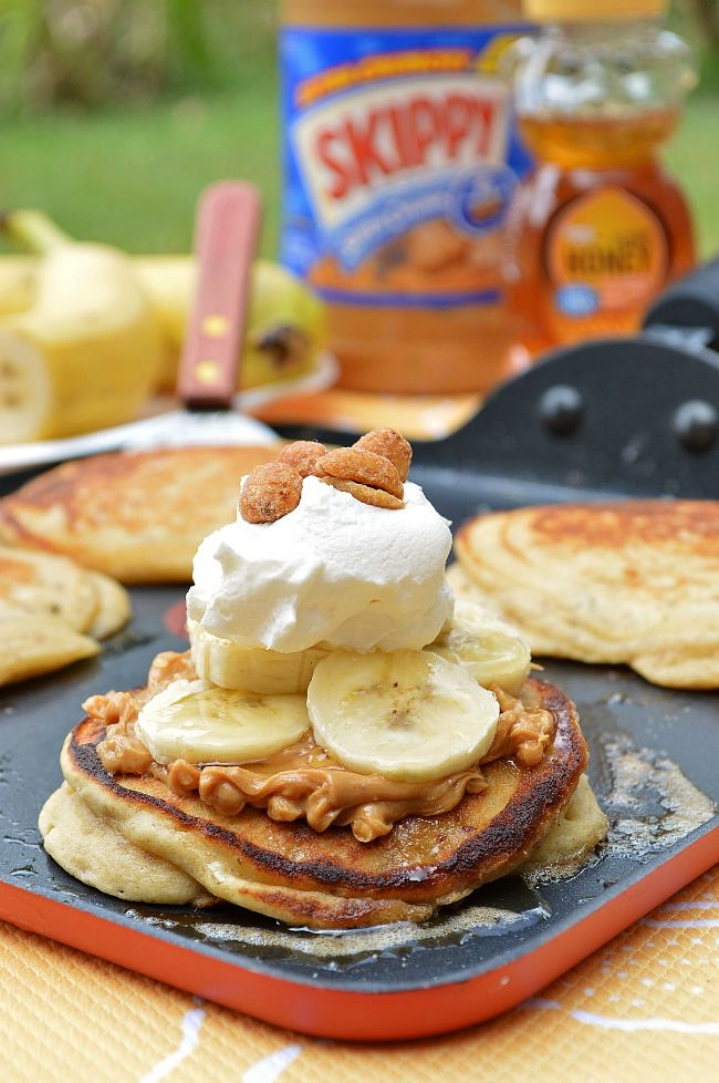 These amazing Gluten Free Peanut Butter and Honey Pancakes will make you jump for joy early in the morning with their crisp outer shell and light and fluffy centers. Drizzle with some honey and top with Cool Whip for an indulgent breakfast treat.