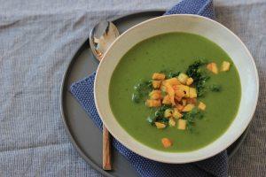 Spinat-Kartoffel-Suppe als Beitrag zur #gemueseexpedition