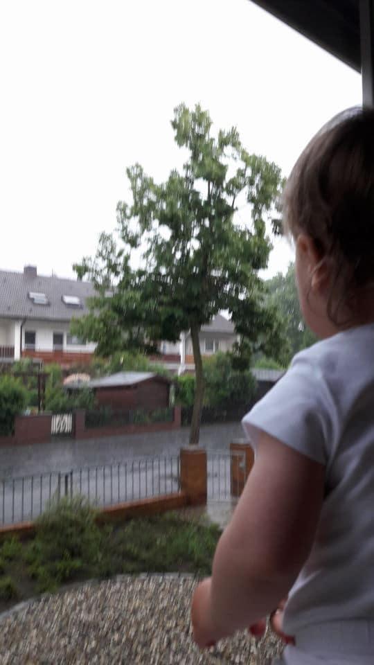 Gewitter und Sommerregen