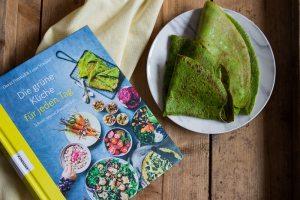Grüne Pfannkuchen / Crêpes und ein Buchtipp für frische Rezepte