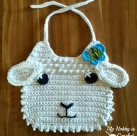 Bavoir agneau au crochet