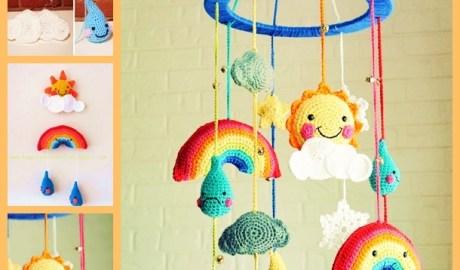 Mobile pour bébé au crochet