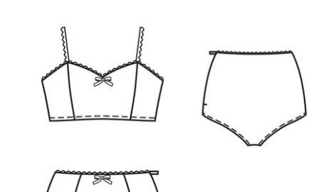 ensemble lingerie rétro