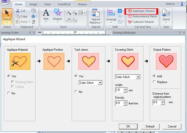 Créer un appliqué avec PE Design