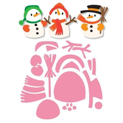 Patrons figurines bonhomme de neiges