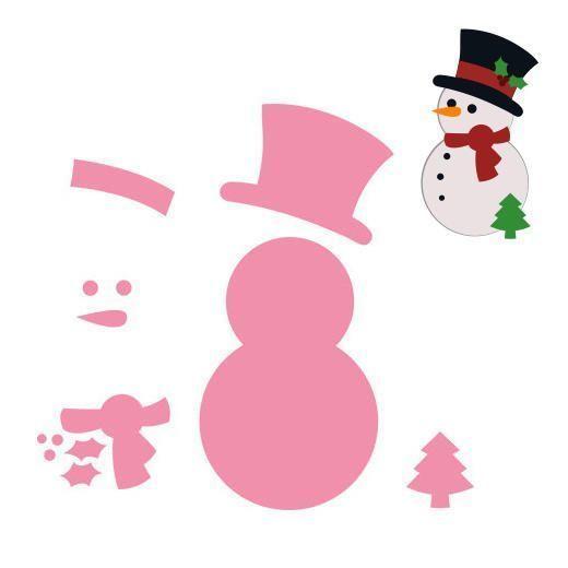 Patrons figurines bonhomme de neige