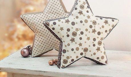 Coudre un coussin étoile 2D