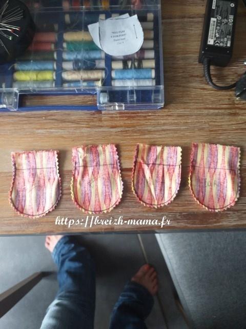 Assemblage des bouts de pattes avants et arrières