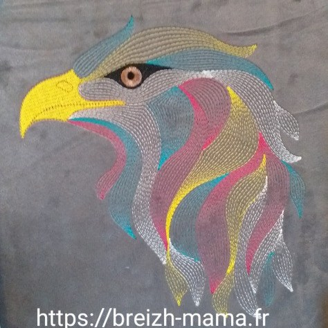 Motif broderie aigle design