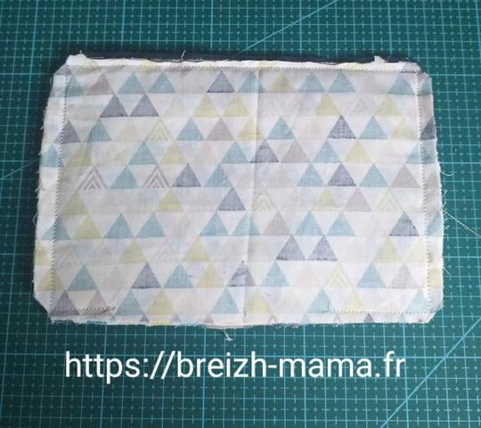 12 - Cranter les angles et couper les surplus de tissu