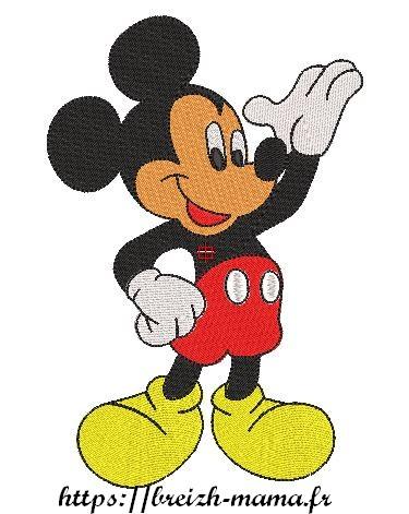 Motif broderie Mickey