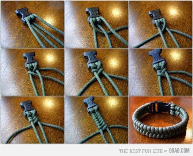 un bracelet avec un lacet