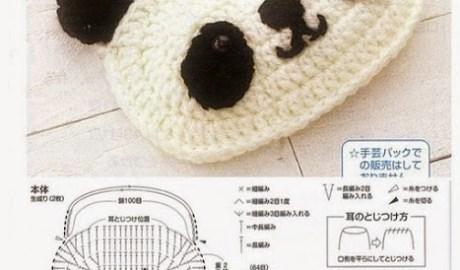 Sac panda au crochet