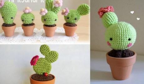 Décoration Cactus au crochet