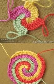 une spirale en crochet