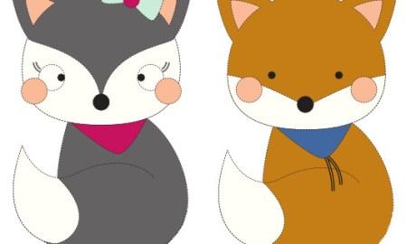 appliqué renard et renarde