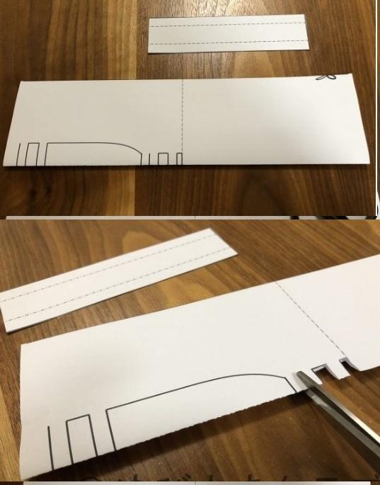 Découpez les pièces de papiers et pour le centre pliez votre feuille en deux