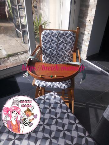 réfection de housse de chaise haute bébé