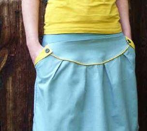 jupe à poche et passepoil