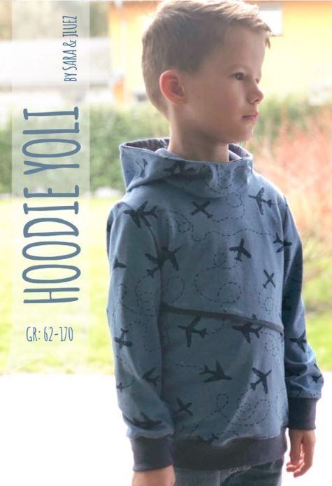 Sweat à capuche Yoli Patron Couture Enfant Breizh Mama
