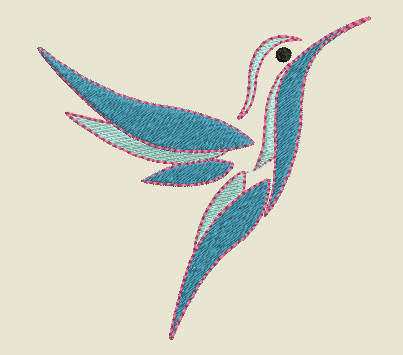 Motif broderie Colibri gratuit