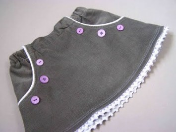 Coudre une jupe à poches passepoilées